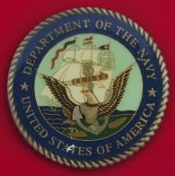 Челлендж коин помощника по специальным вопросам и проектам Томаса О'Нила, аппарат заместителя министра ВМС США