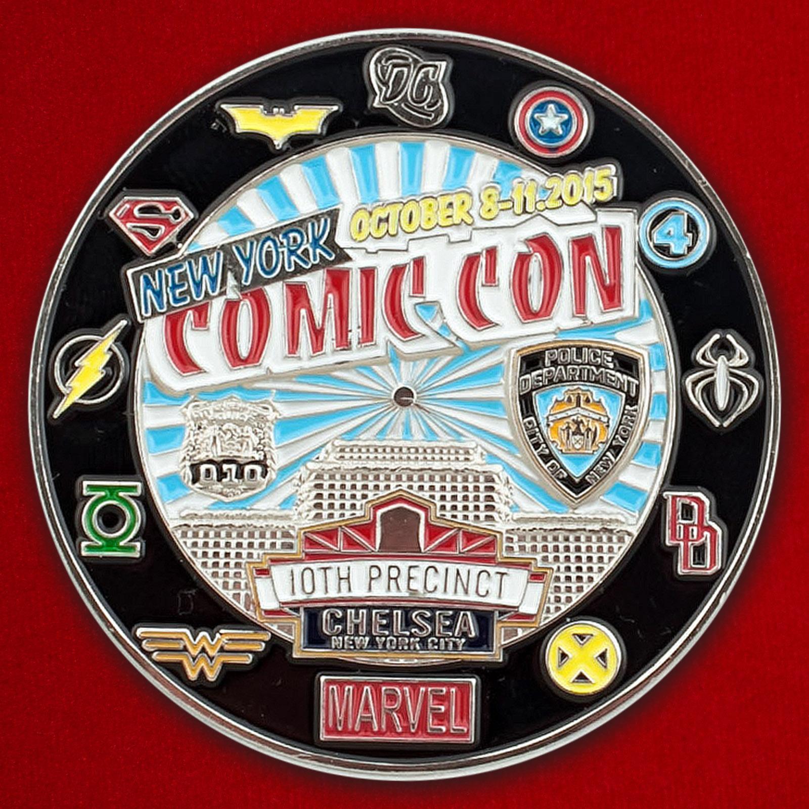 """Челлендж коин посетителей шоу """"Comic Con-2015"""" в Нью-Йорке"""
