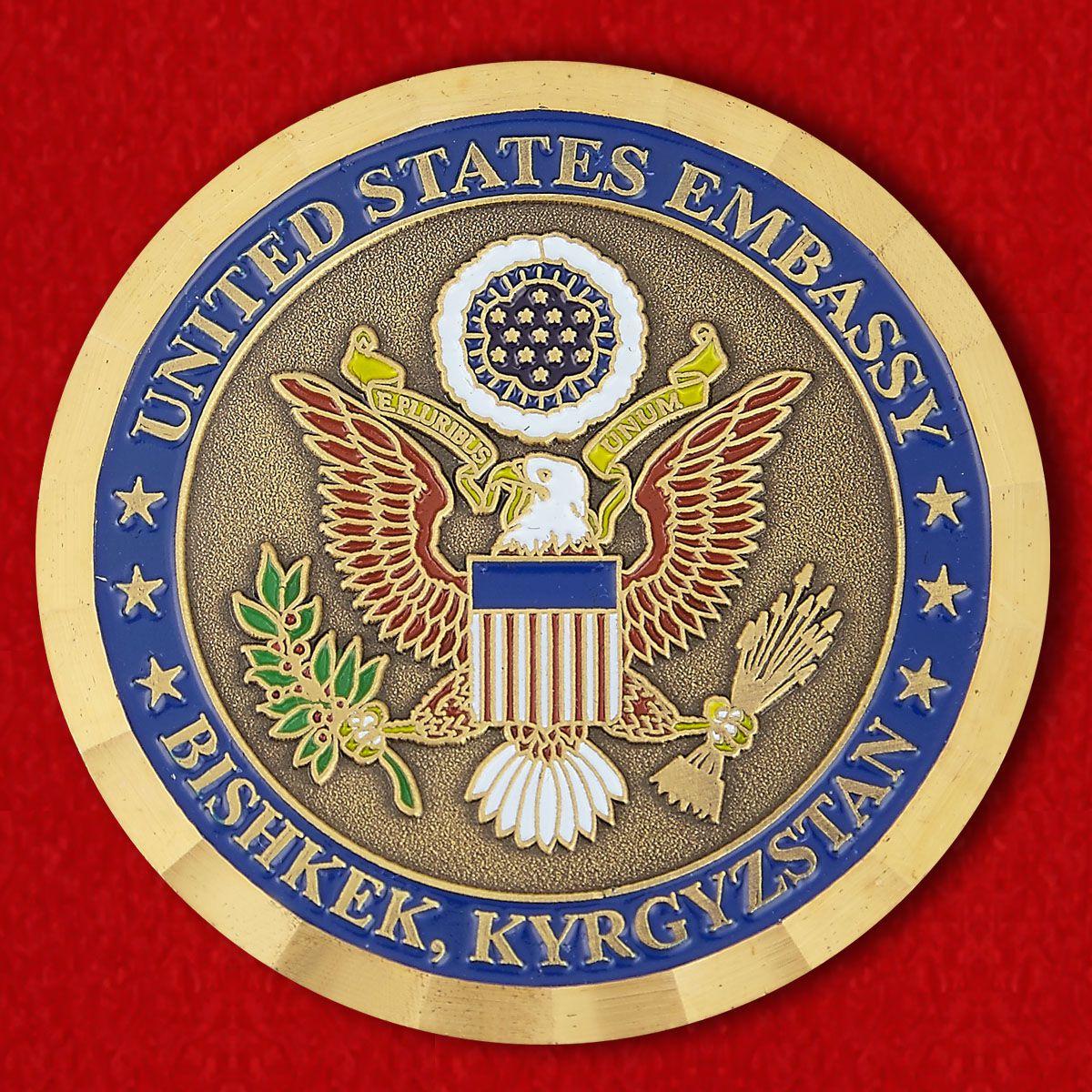 Челлендж коин Посольства США в Бишкеке