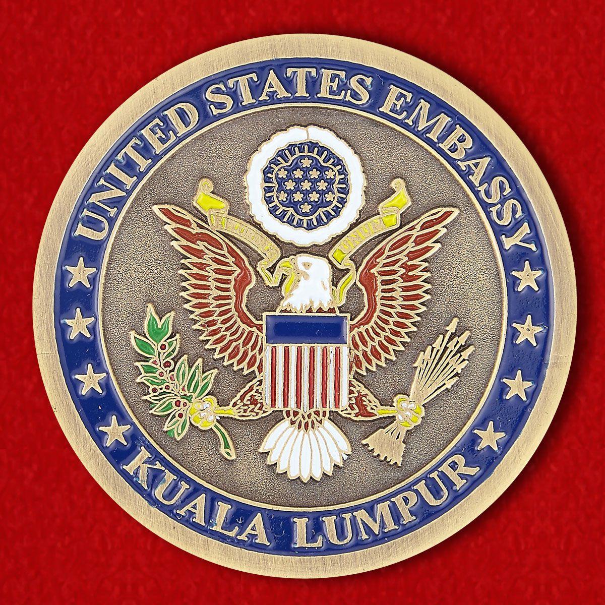 Челлендж коин Посольства США в Куала-Лумпуре