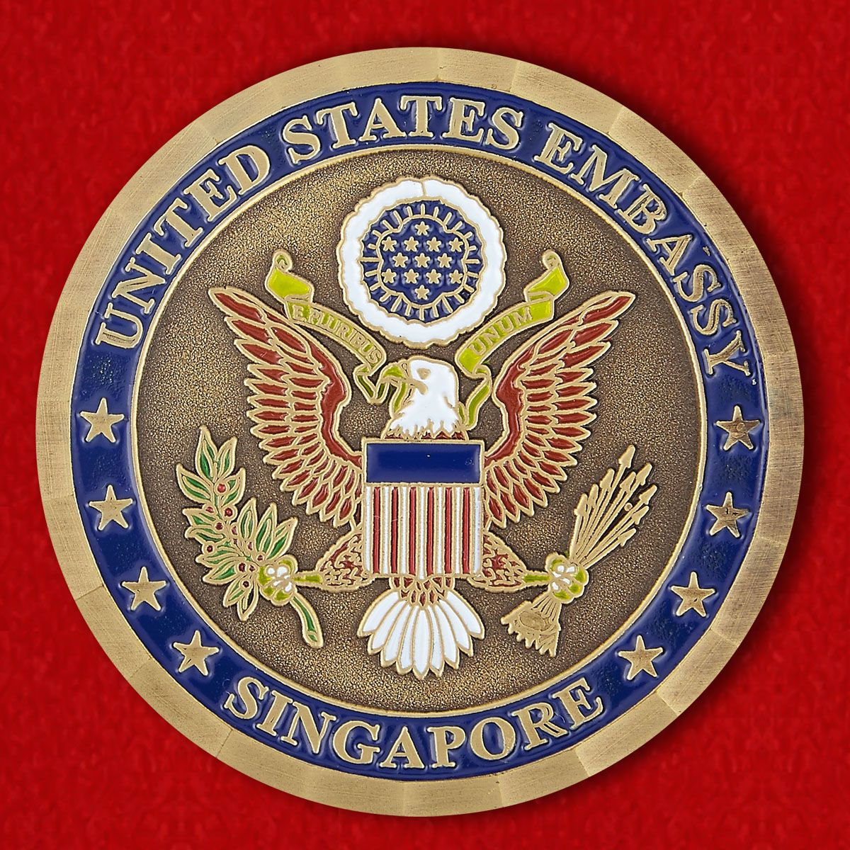 Челлендж коин Посольства США в Сингапуре