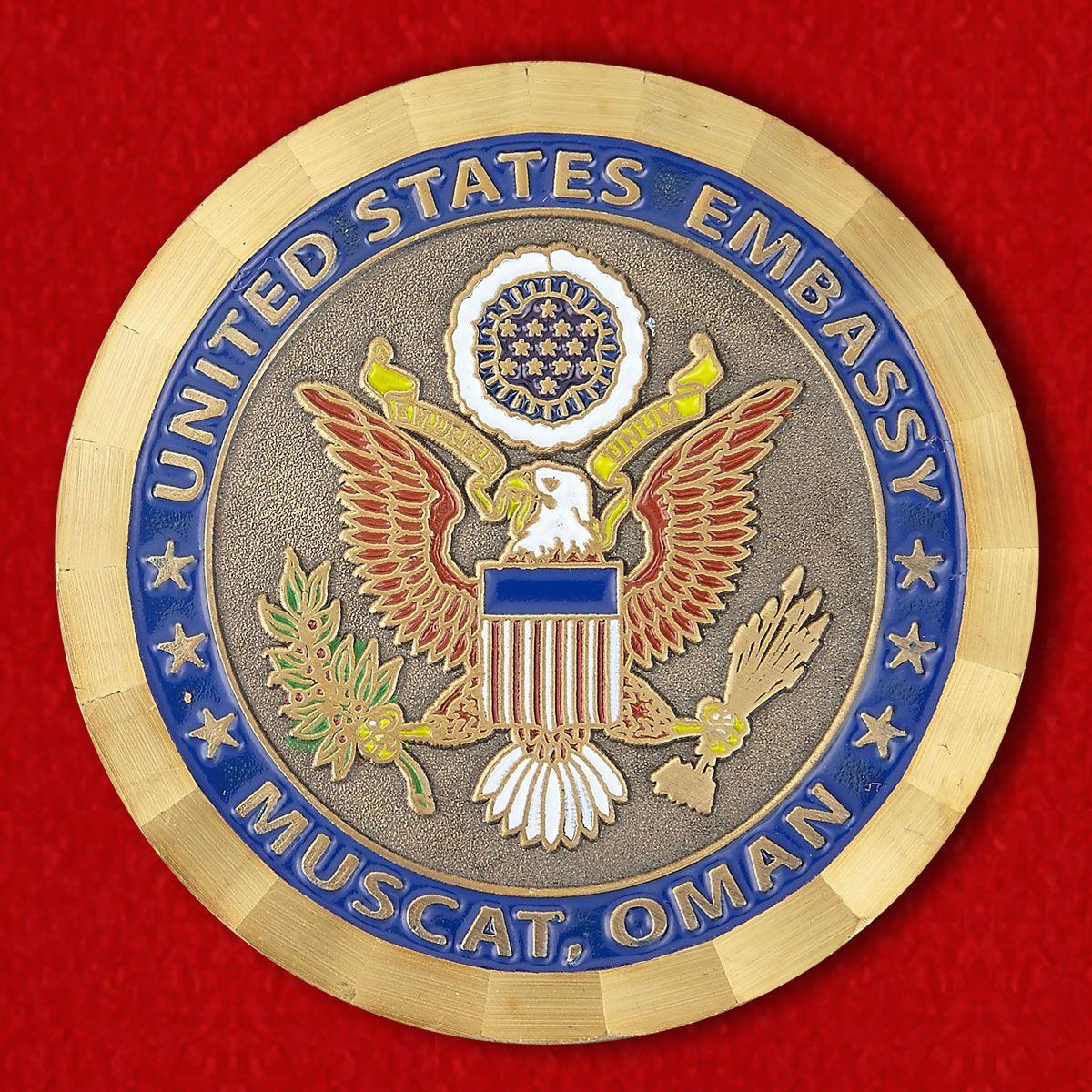 """Челлендж коин """"Посольство США в Омане"""""""