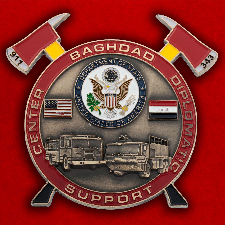 Челлендж коин Пожарной охраны Дипломатического центра Госдепартамента США в Ираке