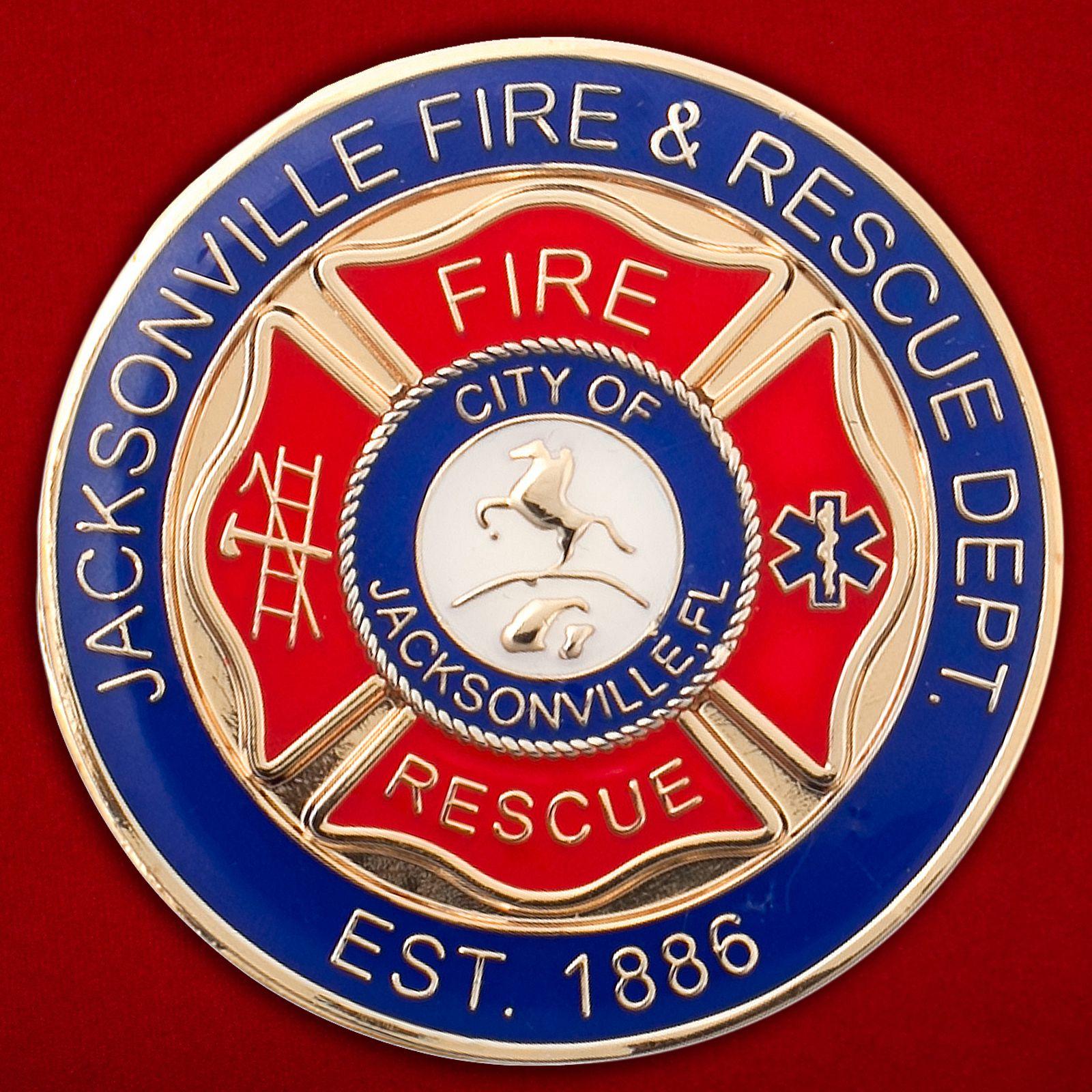 Челлендж коин Пожарной охраны Джэксонвилла (Флорида)