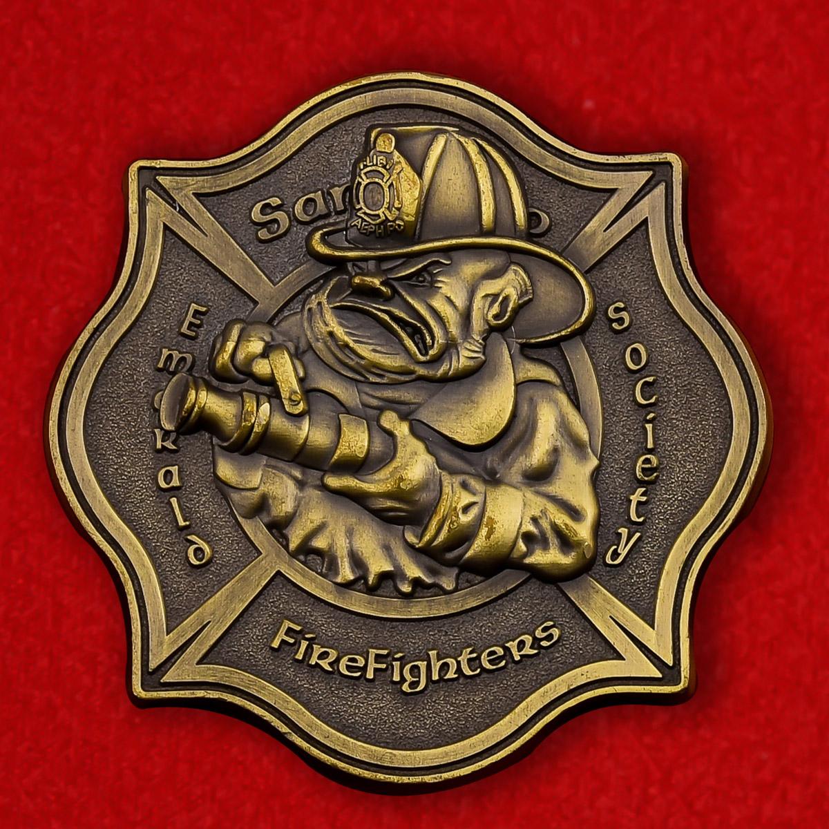 Челлендж коин Пожарной охраны Сан-Диего