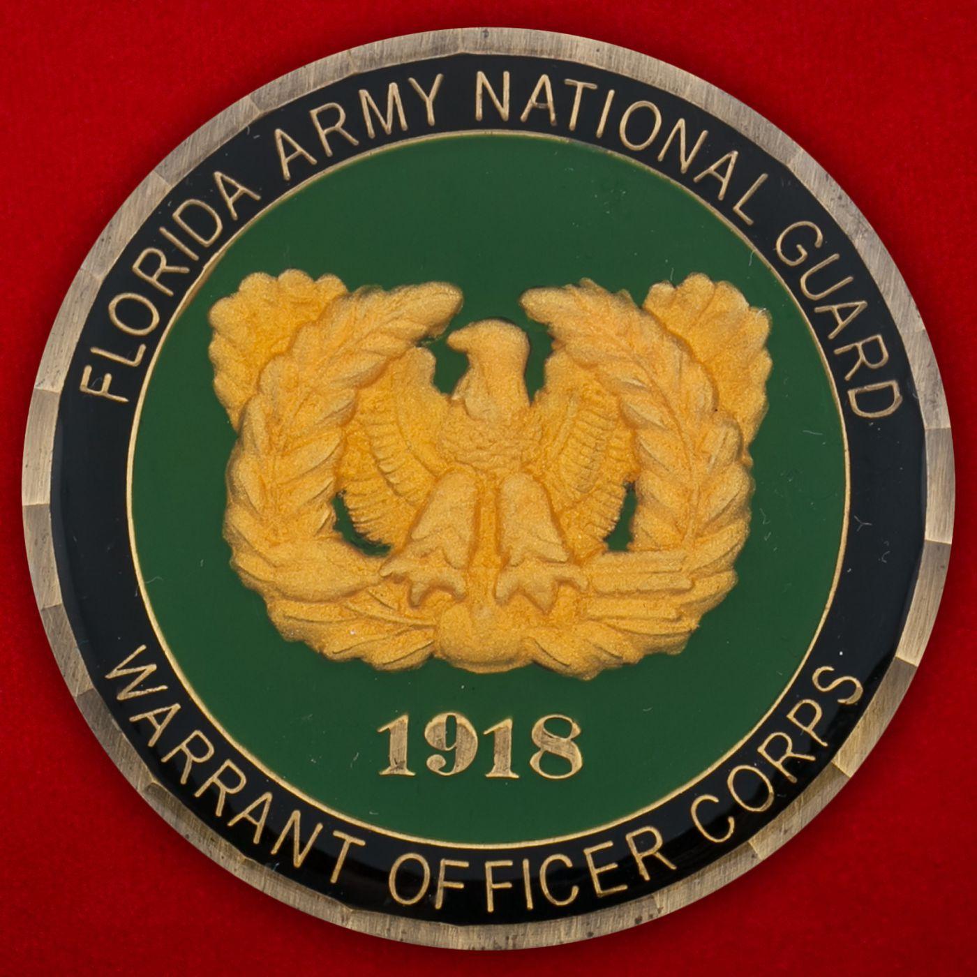 Челлендж коин прапорщика 1-й бригады ополчения Национальной гвардии США (Штат Флорида)