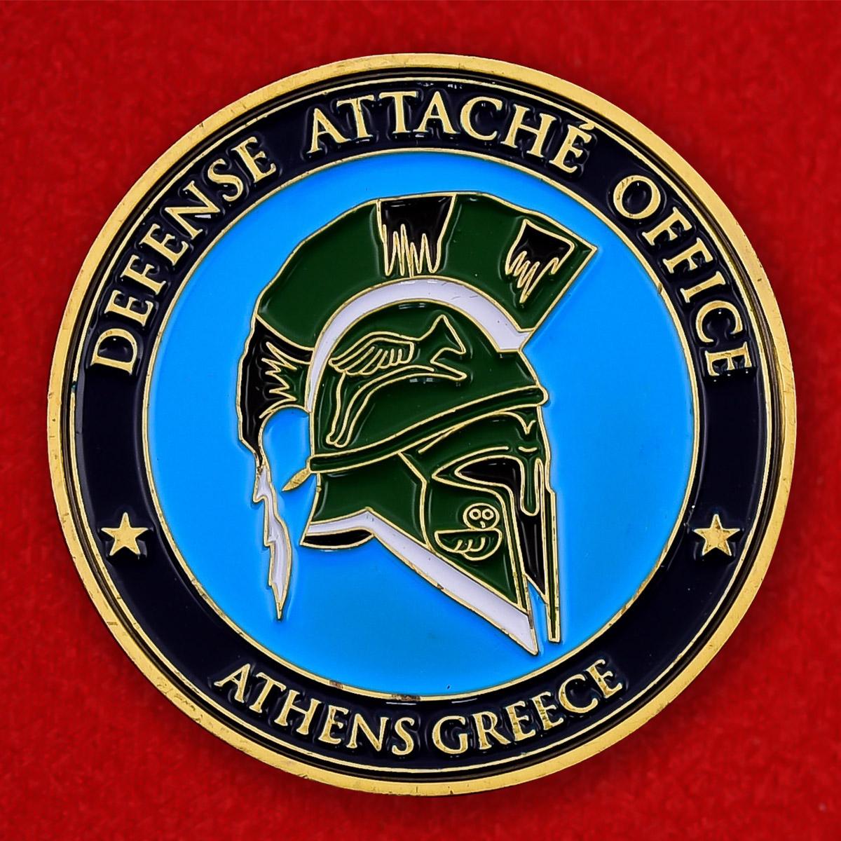 """Челлендж коин """"Представительство военного атташе США в Афинах, Греция"""""""