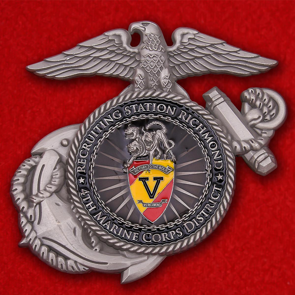 """Челлендж коин """"Призывной пункт Ричмонд Корпуса морской пехоты США"""""""