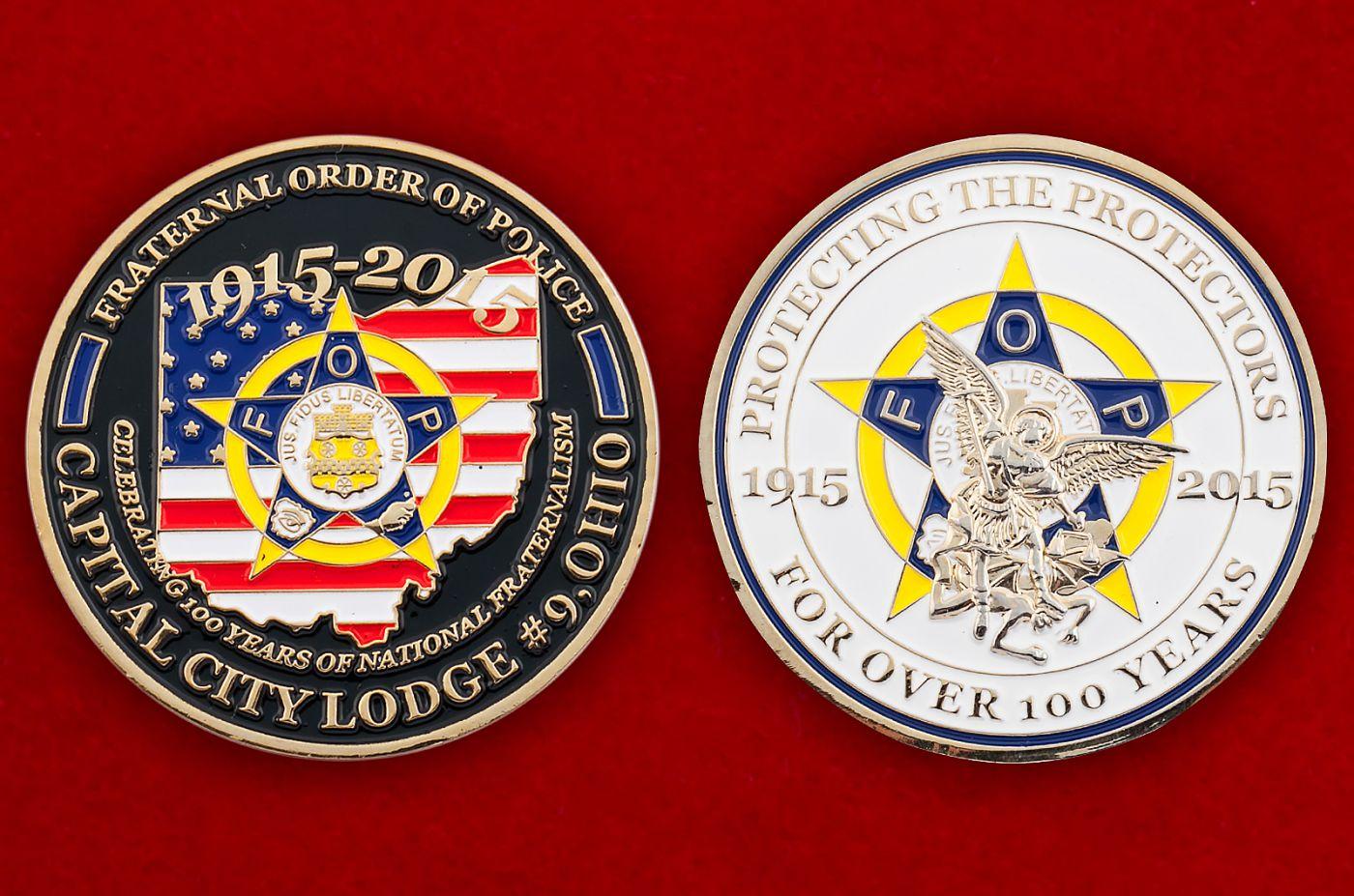 Челлендж коин профсоюзной организации сотрудников полиции штата Огайо - аверс и реверс