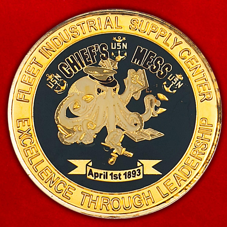 Челлендж коин промышленного центра снабжения флота ВМС США