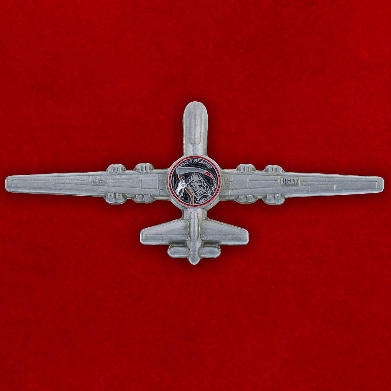 """Челлендж коин """"Разведывательно-ударный БПЛА MQ-9 Reaper ВВС США"""""""