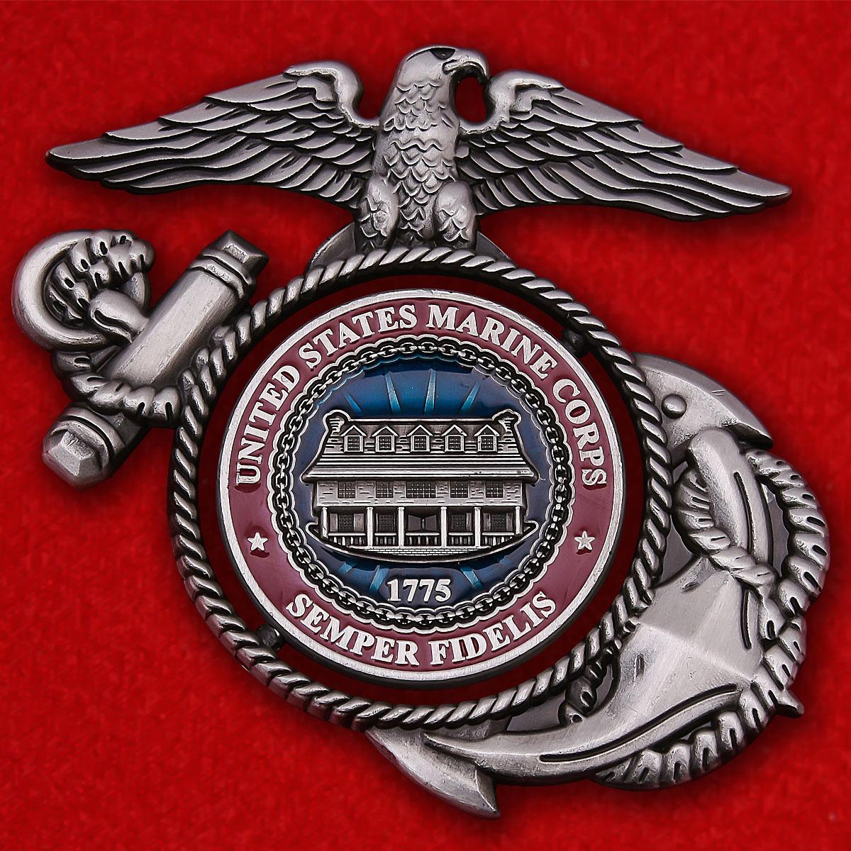 """Челлендж коин """"Рота Чарли 4-го саперного батальона 4-й дивизии Корпуса морской пехоты США"""""""