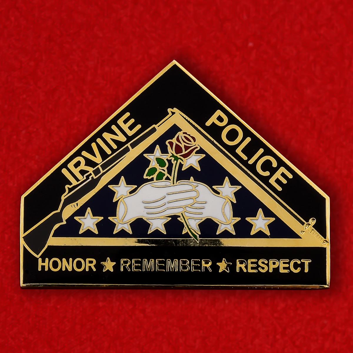 Челлендж коин роты Почетного караула Департамента полиции Ирвайна, Калифорния