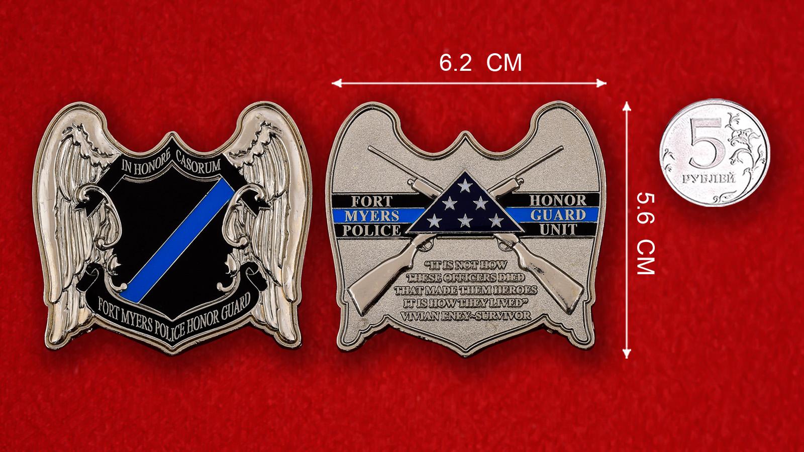 Челлендж коин Роты Почетного караула полиции Форт-Майерса