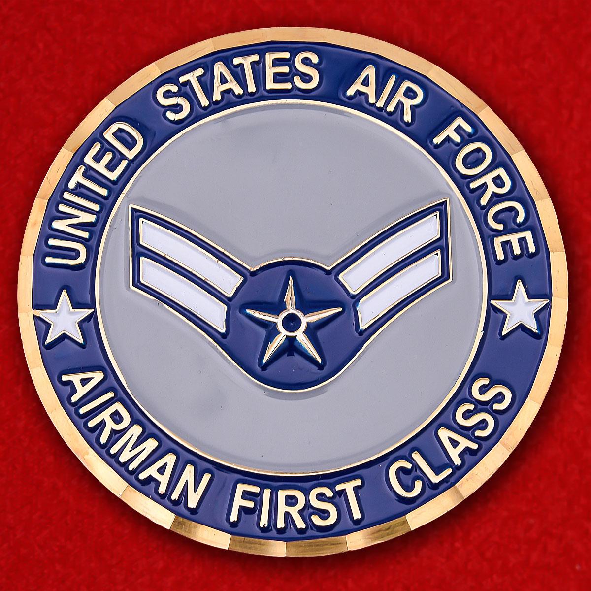 """Челлендж коин рядовых 1-го класса ВВС США """"Ветерану операции Иракская свобода"""""""