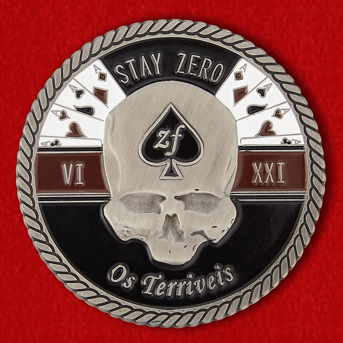 """Челлендж коин с девизом """"Ужасные"""" 32-го батальона в Родезии - аверс"""