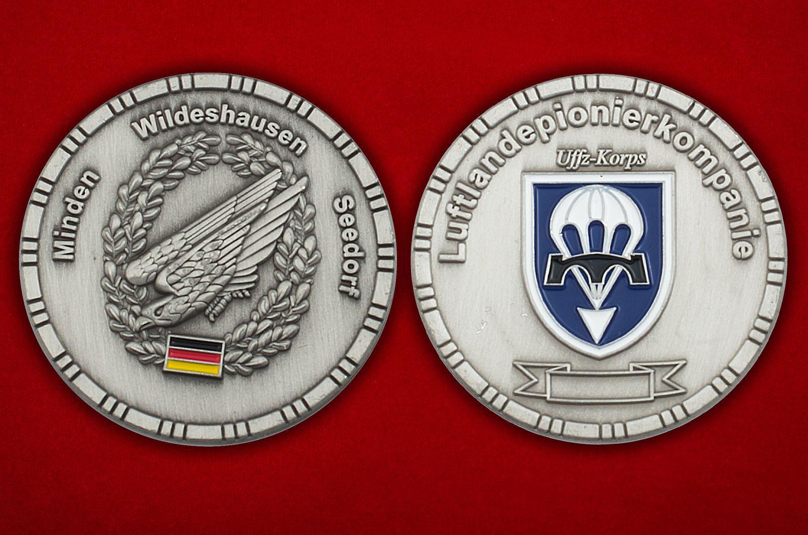 Челлендж коин саперов ВДВ Германии - аверс и реверс