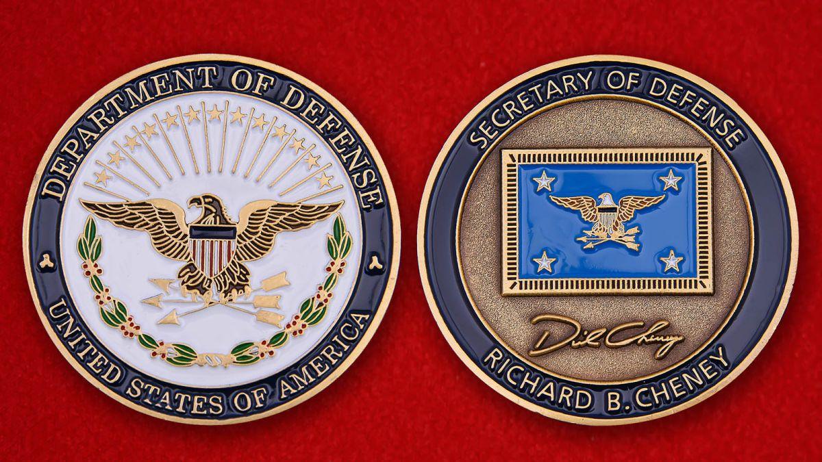 Челлендж коин секретаря Госдепартамента США Ричарда Чейни - аверс и реверс
