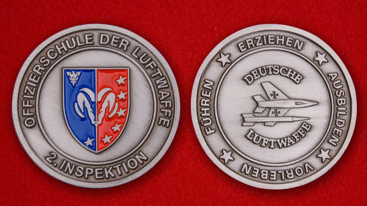 Челлендж коин школы офицеров ВВС Германии - аверс и реверс