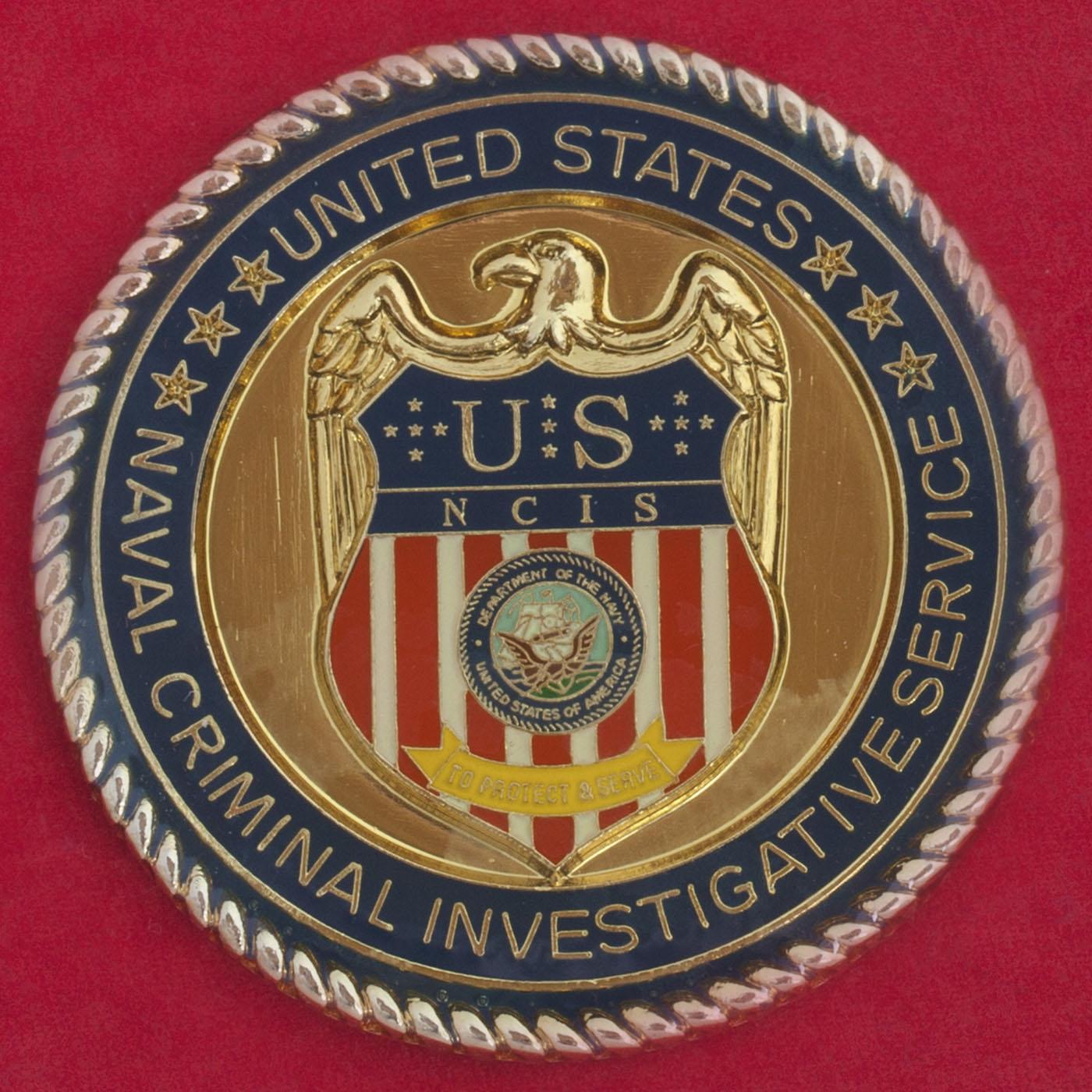 Челлендж коин Следственного управления ВМС США в Джорджии