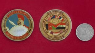 Челлендж коин служащих Объединенного центра воздушных и космических операций коалиционных сил, авиабаза Эль-Удейд, Катар