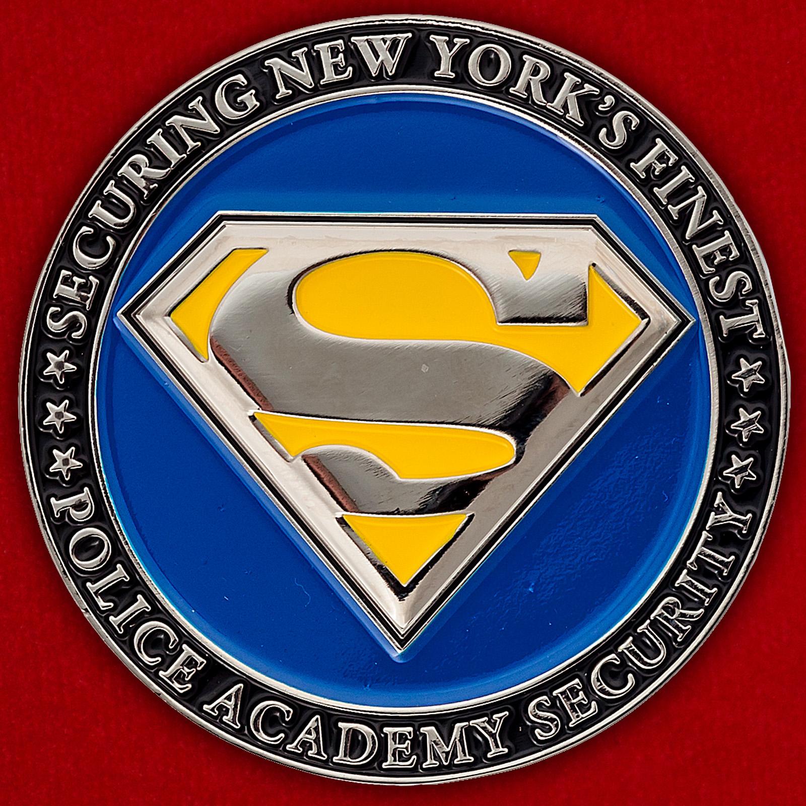 Челлендж коин службы безопасности Полицейской академии в Колледж-Поинт, Нью-Йорк
