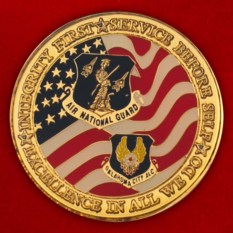 Челлендж коин Службы материально-техничскокого обеспечения авиации Нацгвардии штата Оклахома