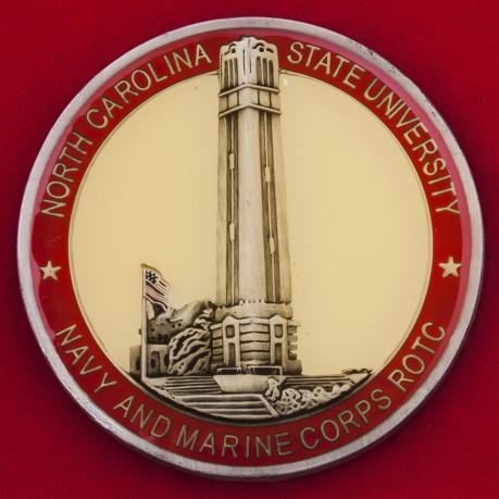 Челлендж коин Службы подготовки офицеров резерва Корпуса морской пехоты и ВМС США в университете Северной Каролины