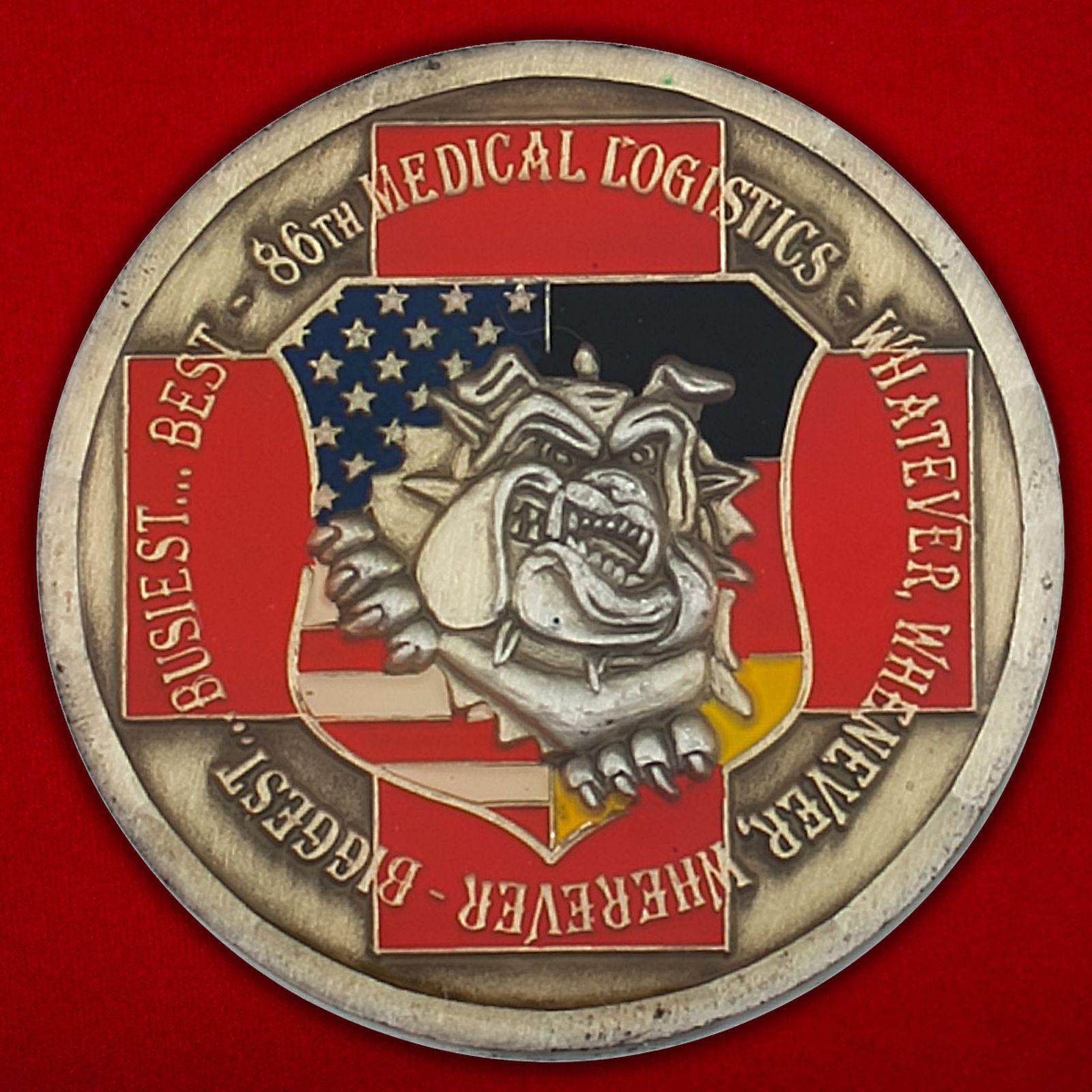 Челлендж коин службы снабжения 86-й Медицинской группы, авиабаза Рамштайн, ФРГ