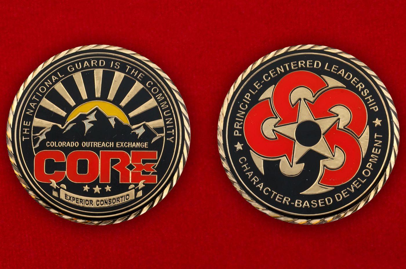 Челлендж коин Сообщества Национальной гвардии штата Колорадо - аверс и реверс