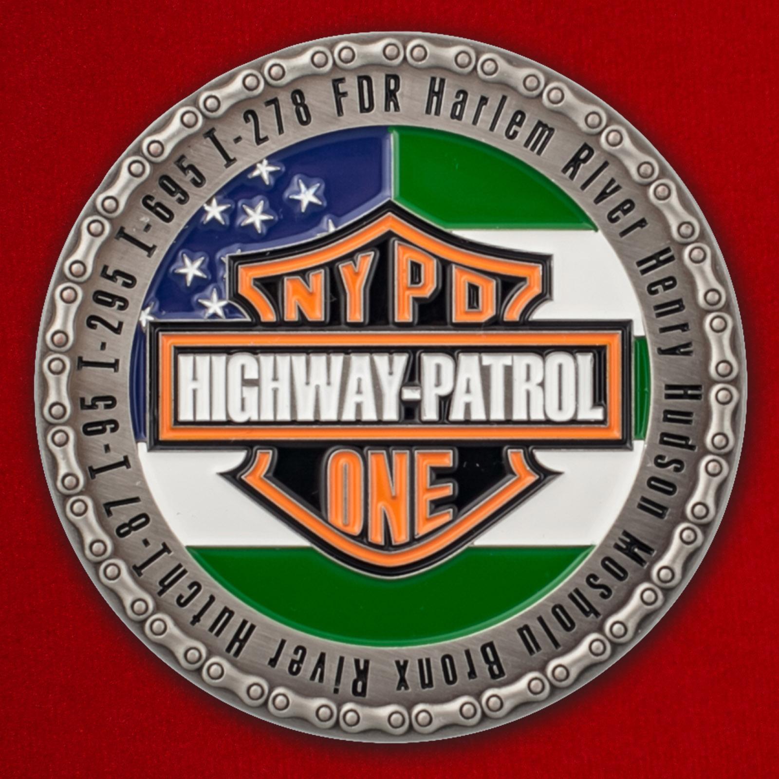 Челлендж коин сотрудников Дорожно-патрульной службы Нью-Йорка