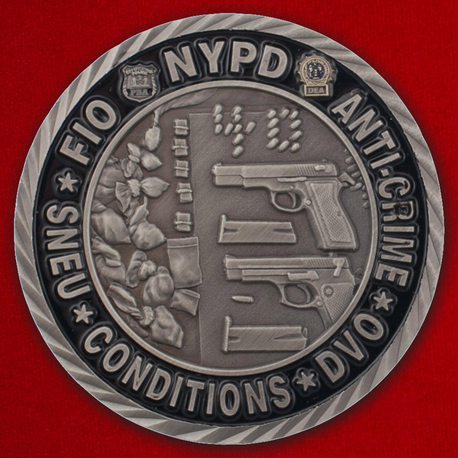 Челлендж коин сотрудников силовых структур Нью-Йорка