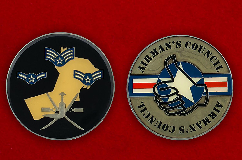 Челлендж коин Совета пилотов ВВС США - аверс и реверс