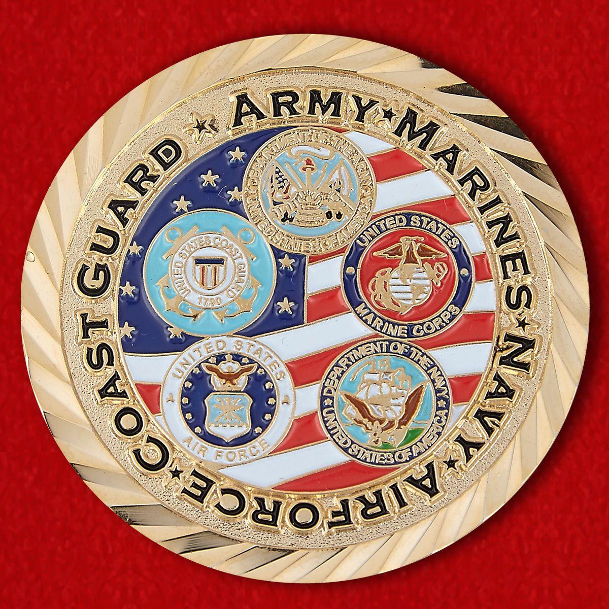 Челлендж коин Союза американских ветеранов Второй Мировой войны