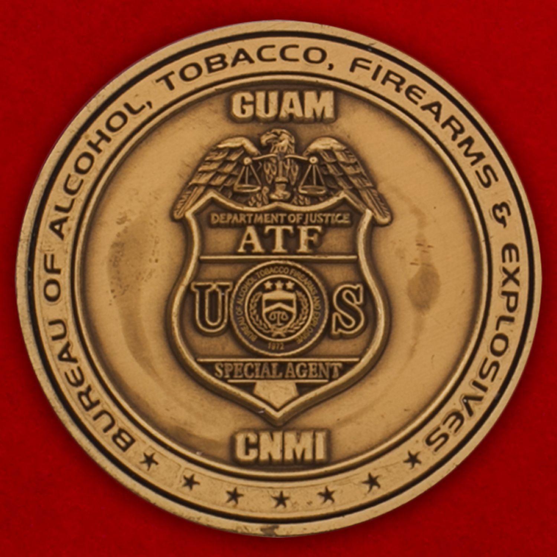 Челлендж коин спецагента Министерства юстиции США на Гуаме