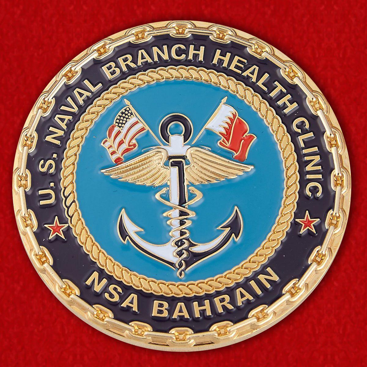 """Челлендж коин """"Специалист по работе с общественностью Отделения клиники здоровья ВМС США в Бахрейне капитан Руби Теннисон"""""""