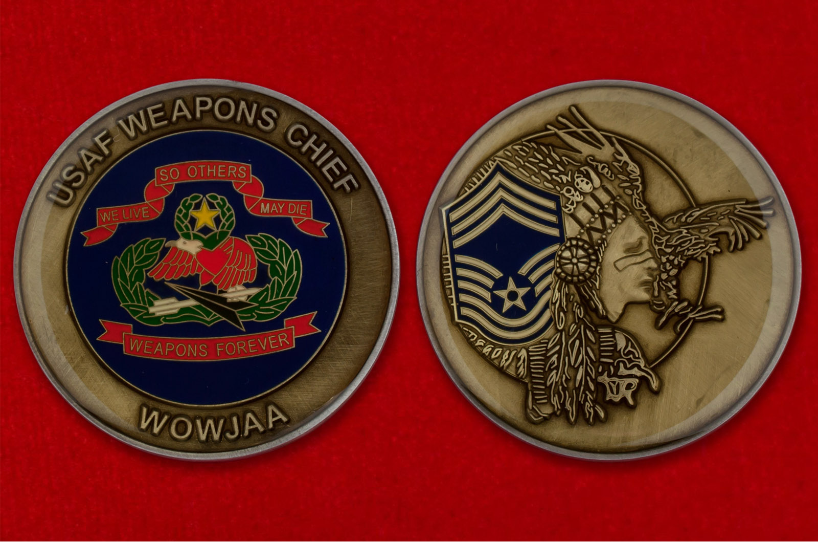 Челлендж коин специалистов по вооружению ВВС США