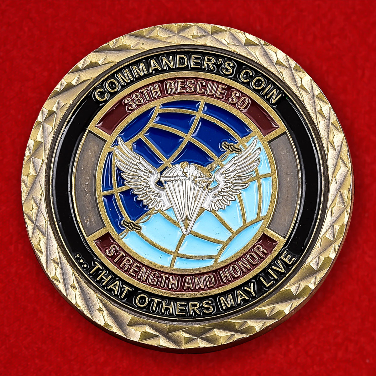 """Челлендж коин США """"38-я поисково-спасательная эскадрилья"""""""