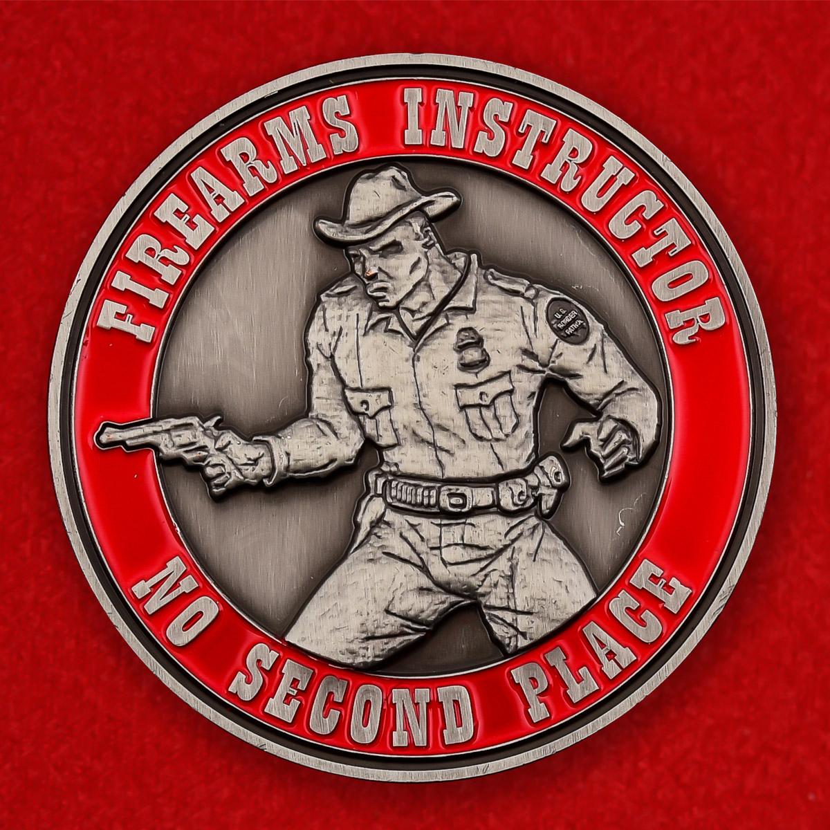 """Челлендж коин США """"Инструктор по стрельбе пограничного патруля"""""""