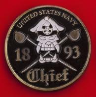 Челлендж коин старшин 133-го десантного инженерно-строительного батальона ВМС США