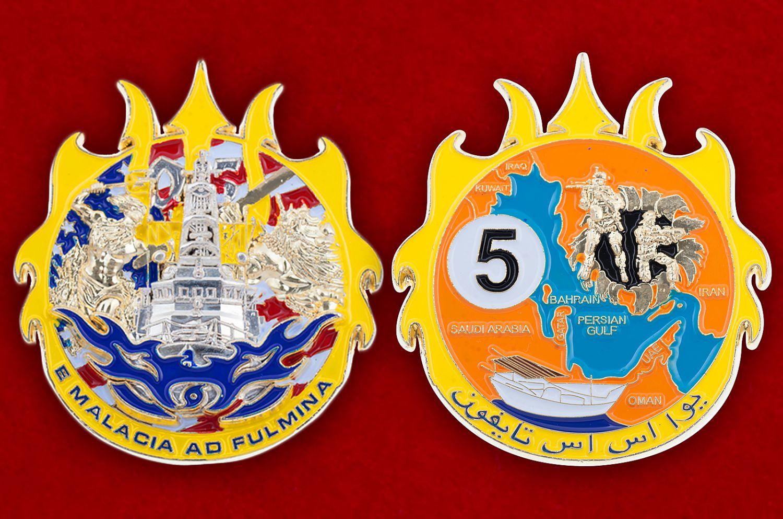Челлендж коин сторожевого корабля ВМС США USS Typhoon (PC-5) - аверс и реверс