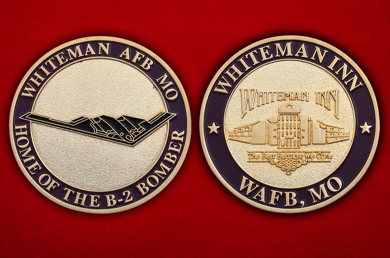 """Челлендж коин """"Стратегический бомбардировщик ВВС США Northrop B-2 Spirit"""" - аверс и реверс"""