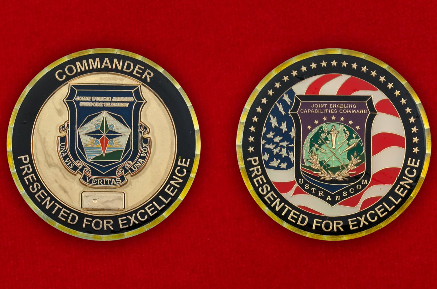 Челлендж коин Стратегического командования ВС США - аверс и реверс