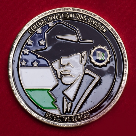 Челлендж коин Сыскного бюро отделов уголовных расследований полиции США