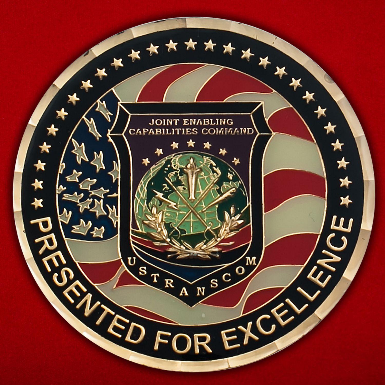 Челлендж коин Транпортного Командования Министерства Обороны США