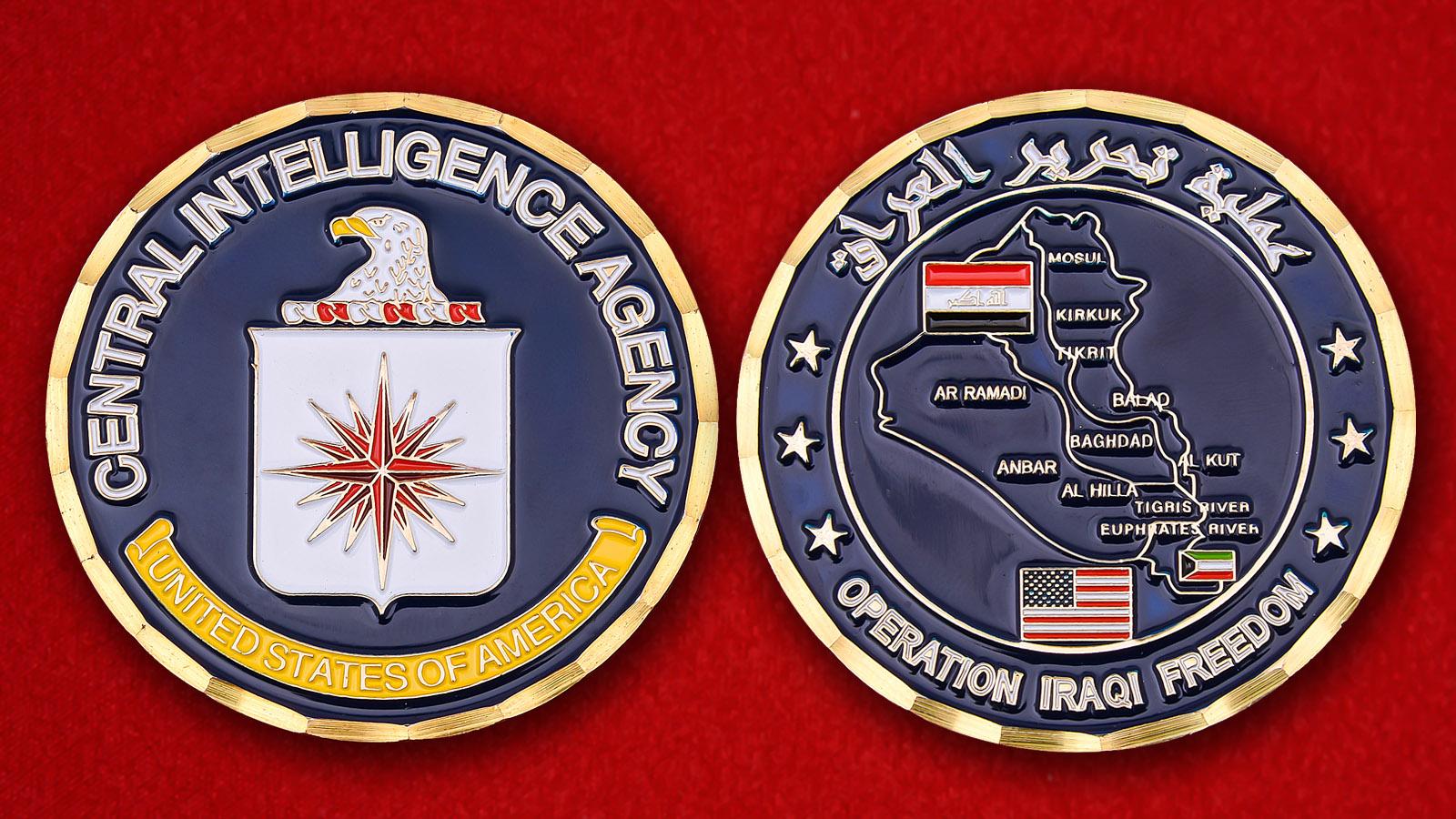 """Челлендж коин ЦРУ США """"За операцию Иракская свобода"""""""