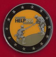 Челлендж коин участников исследования психологической устойчивости при действиях в чрезвычайных ситуациях в Армии США