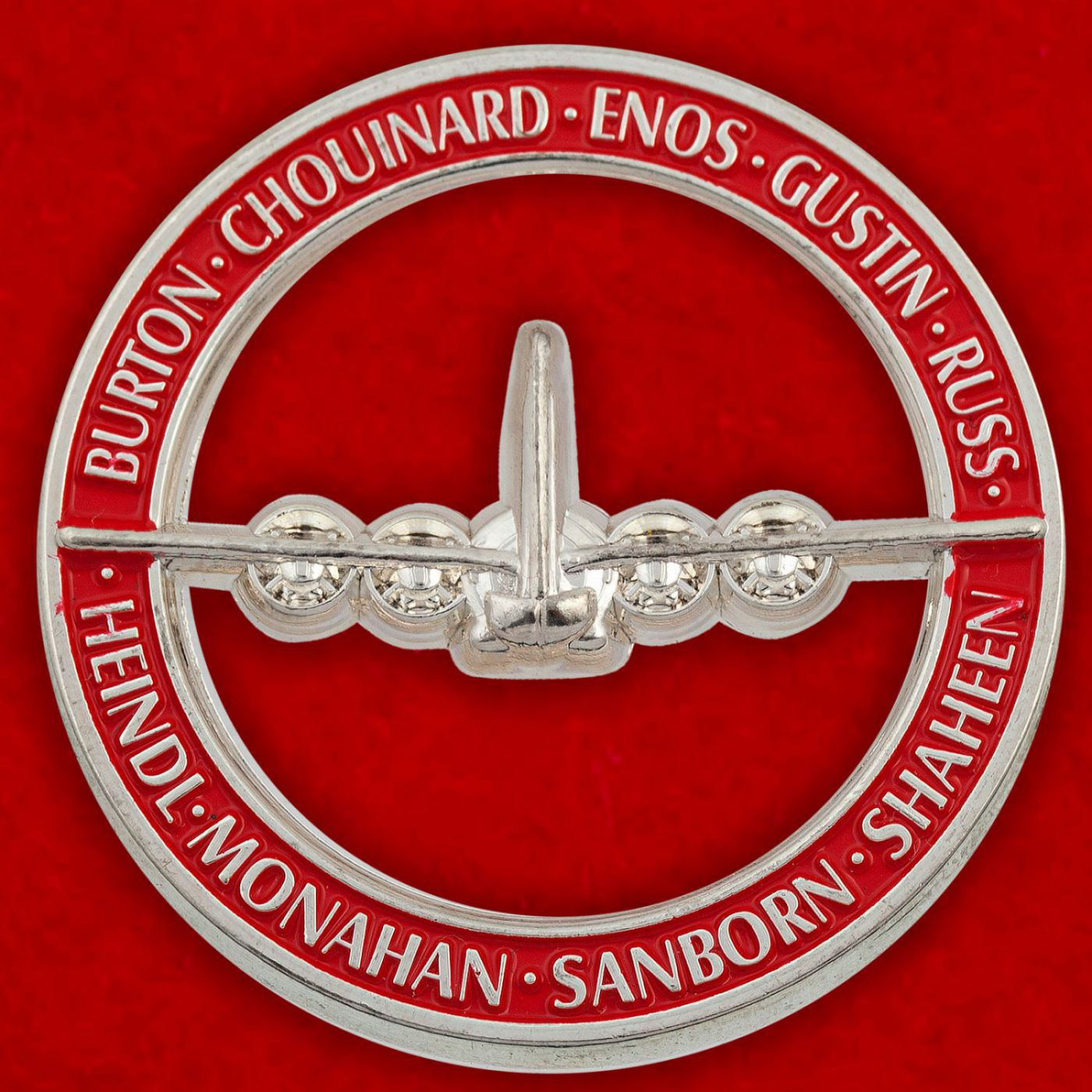 Челлендж коин участников программы старшей школы по вневойсковой подготовке младших офицеров ВВС при Университете Нью-Гемпшира