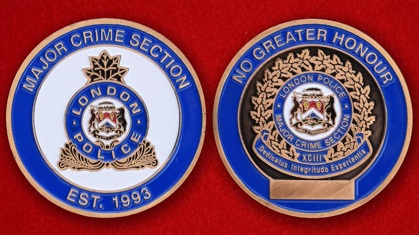 Челлендж коин Уголовного розыска полиции Лондона