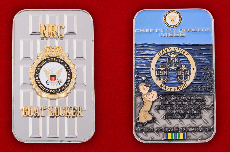 Челлендж коин Управления подбора персонала ВМС США - аверс и реверс